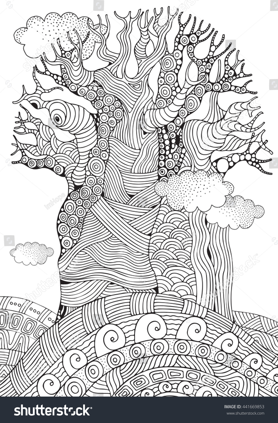 african trees coloring pages - photo#27