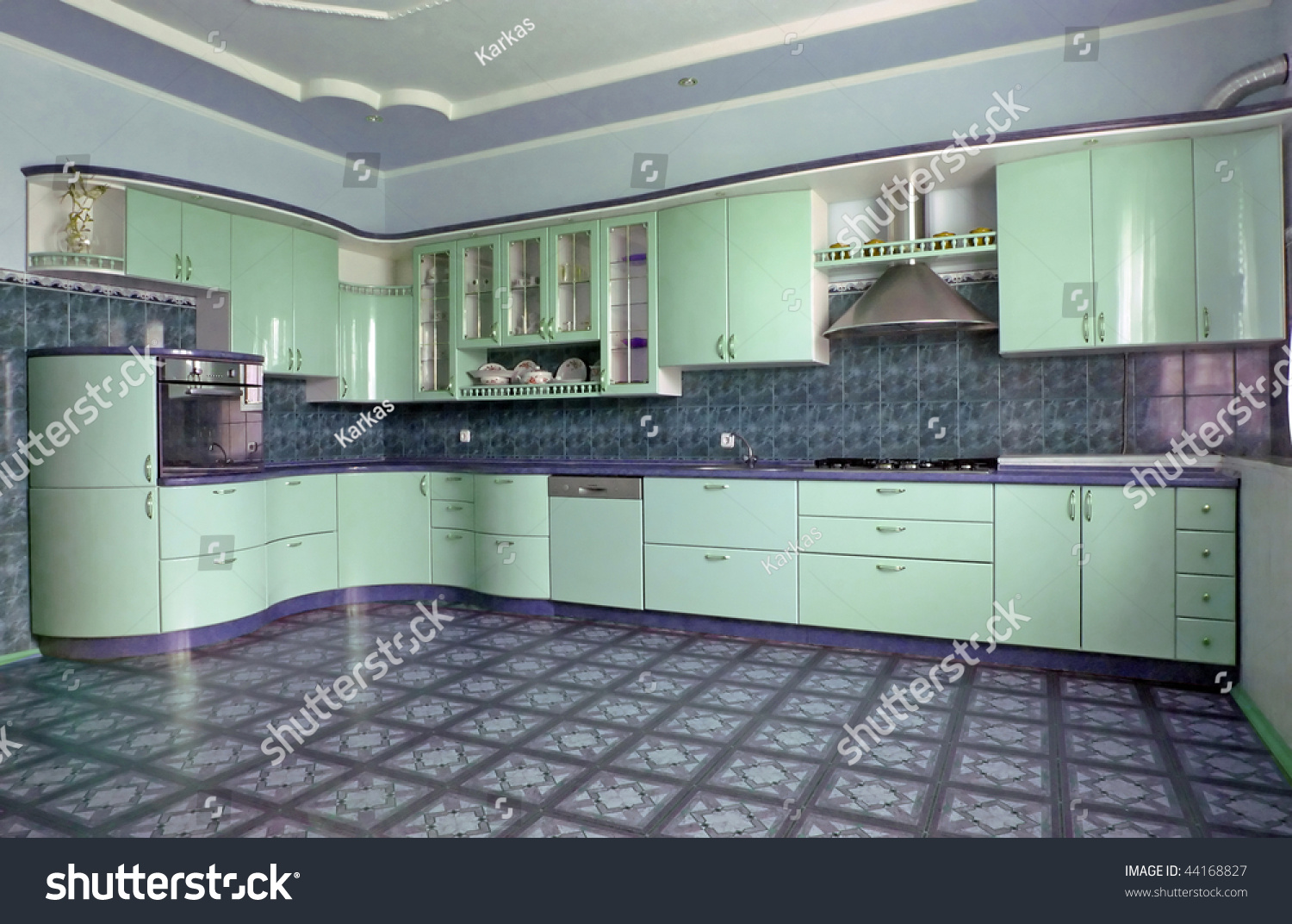 Green Kitchen Stock Photo (Royalty Free) 44168827 - Shutterstock
