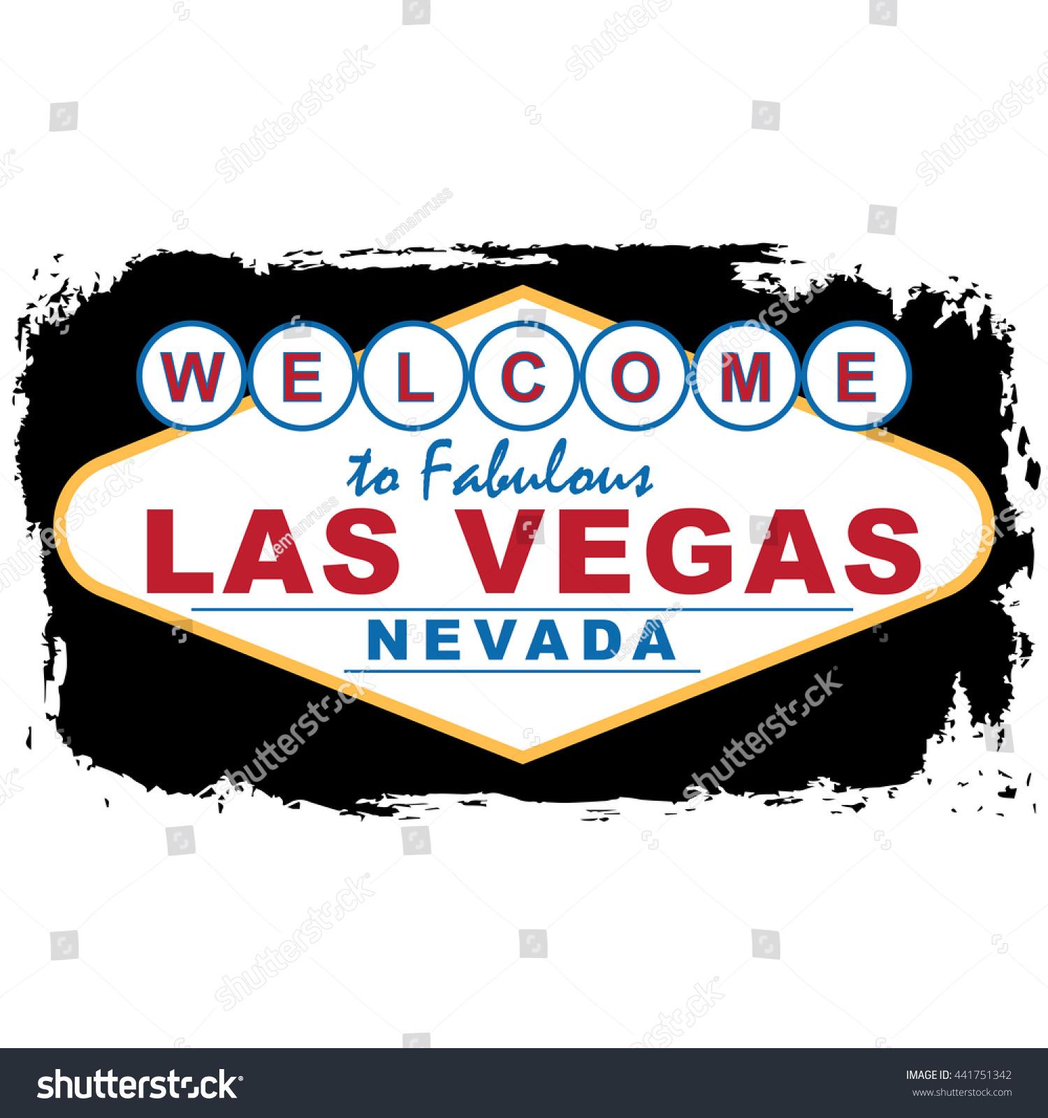 Las Vegas City Concept Logo Label 441751342