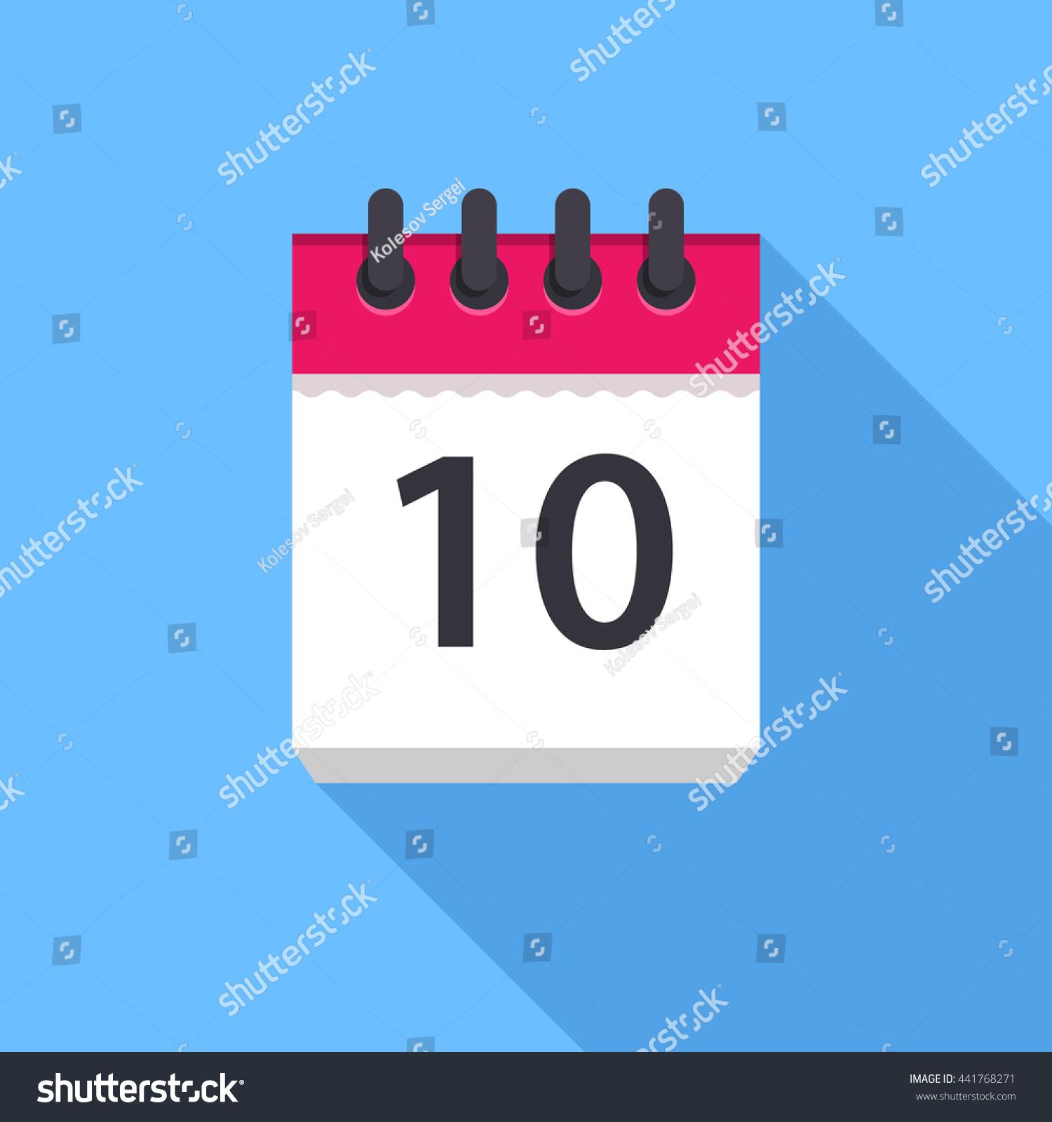 calendar icon flat design vector icon stock vector royalty free