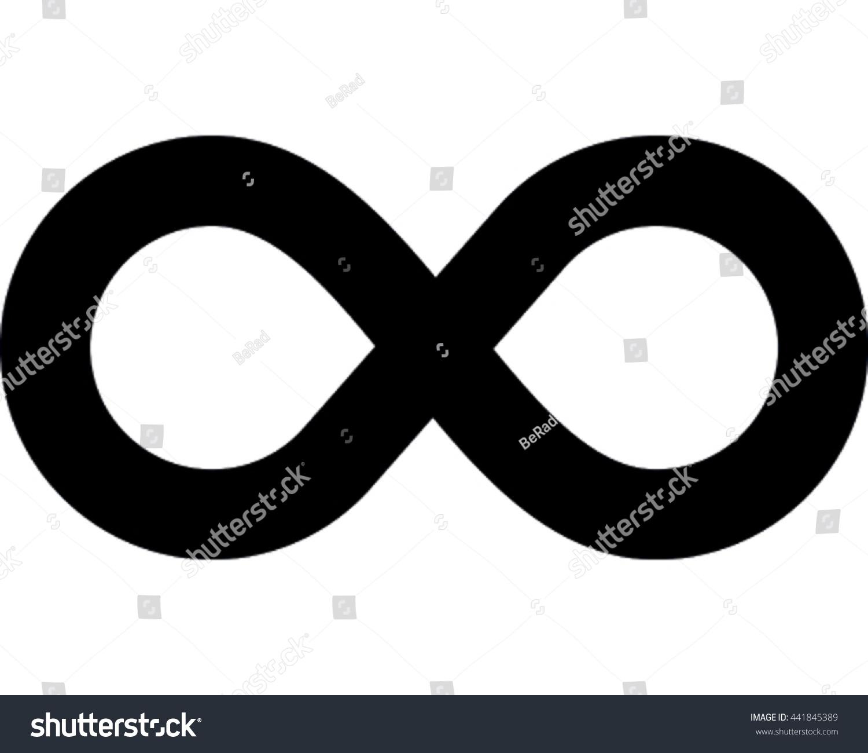 Infinity vector illustration black eternity symbol stock vector black eternity symbol icon biocorpaavc Gallery