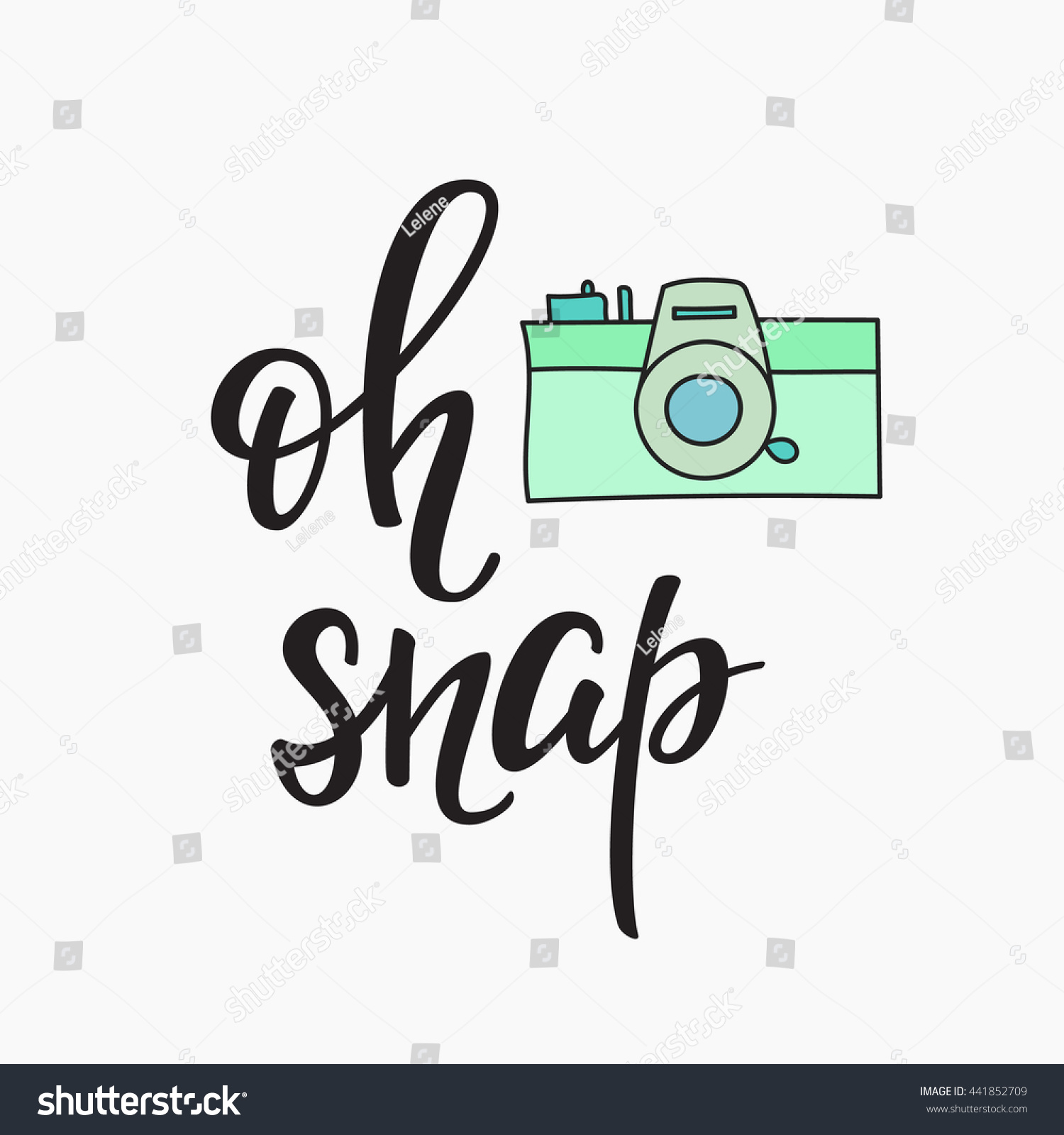 Oh Snap Photo Booth Vintage Old Stock Vector 441852709 - Shutterstock