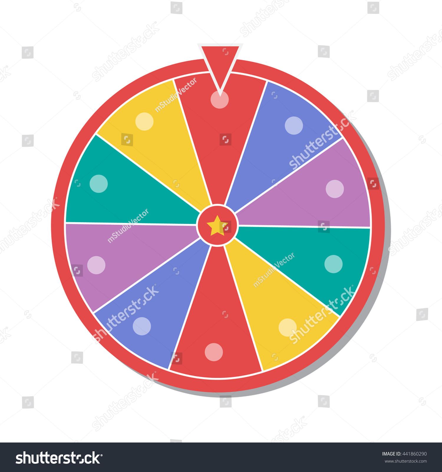 Wheel Of Fortune Vector Illustration Eps1 0 - 441860290 ...