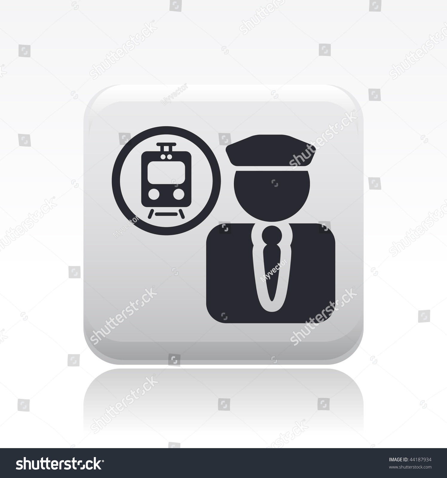 Vector Illustration Modern Glossy Icon Depicting Stock Vector HD ...