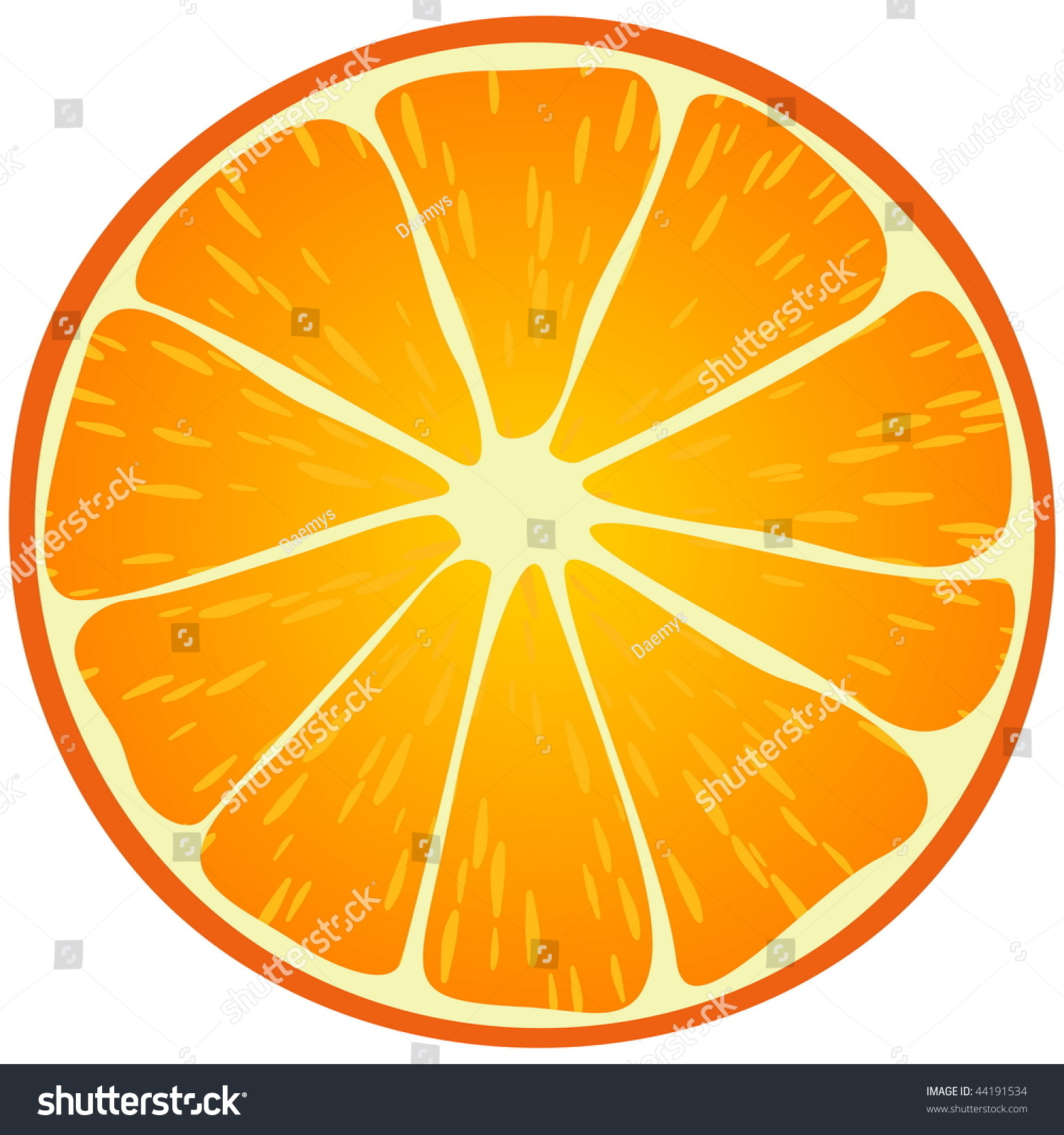 Orange Slice Stock Vector Illustration 44191534 : Shutterstock