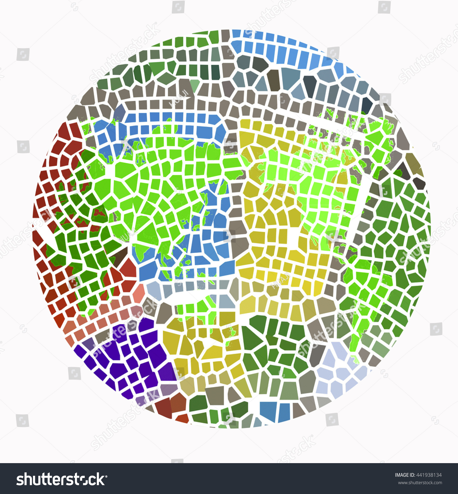 Color Blind Testworld Map Stock Illustration 441938134 - Shutterstock