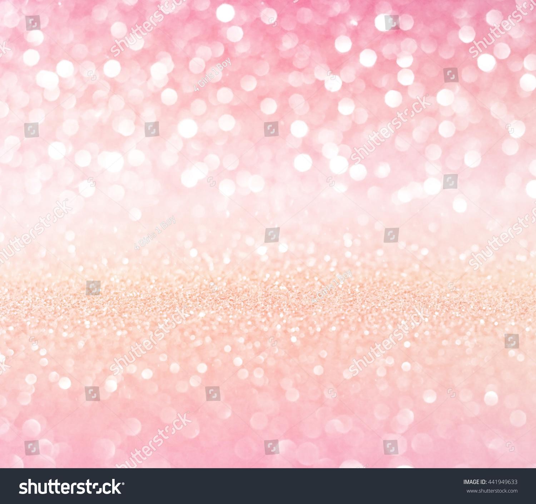 White Pink Gold Glitter Bokeh Texture Stock Illustration ...