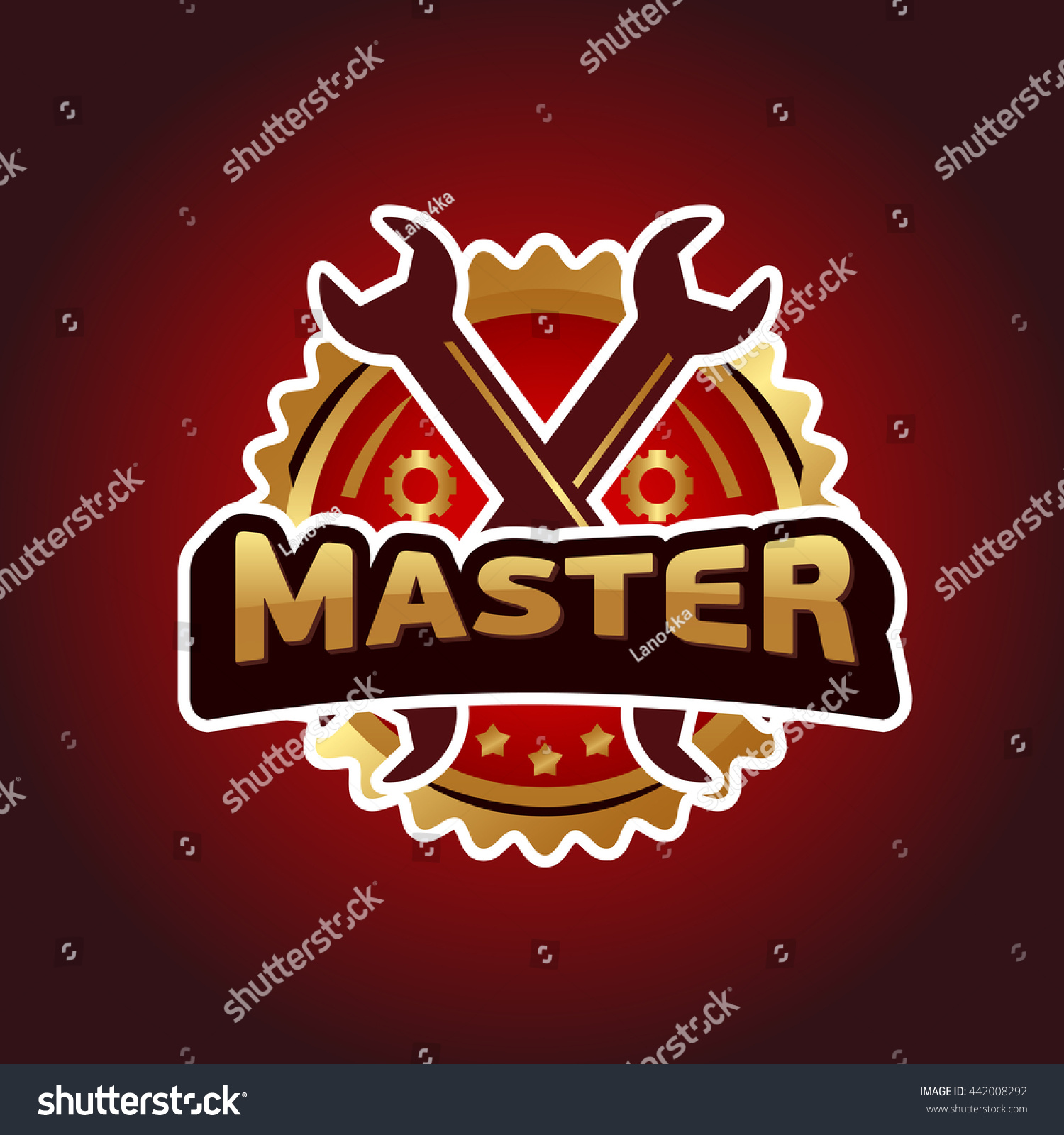 Logo master brand symbol service mark stock vector 442008292 logo master brand symbol service mark on a dark background vector illustration text master biocorpaavc Image collections