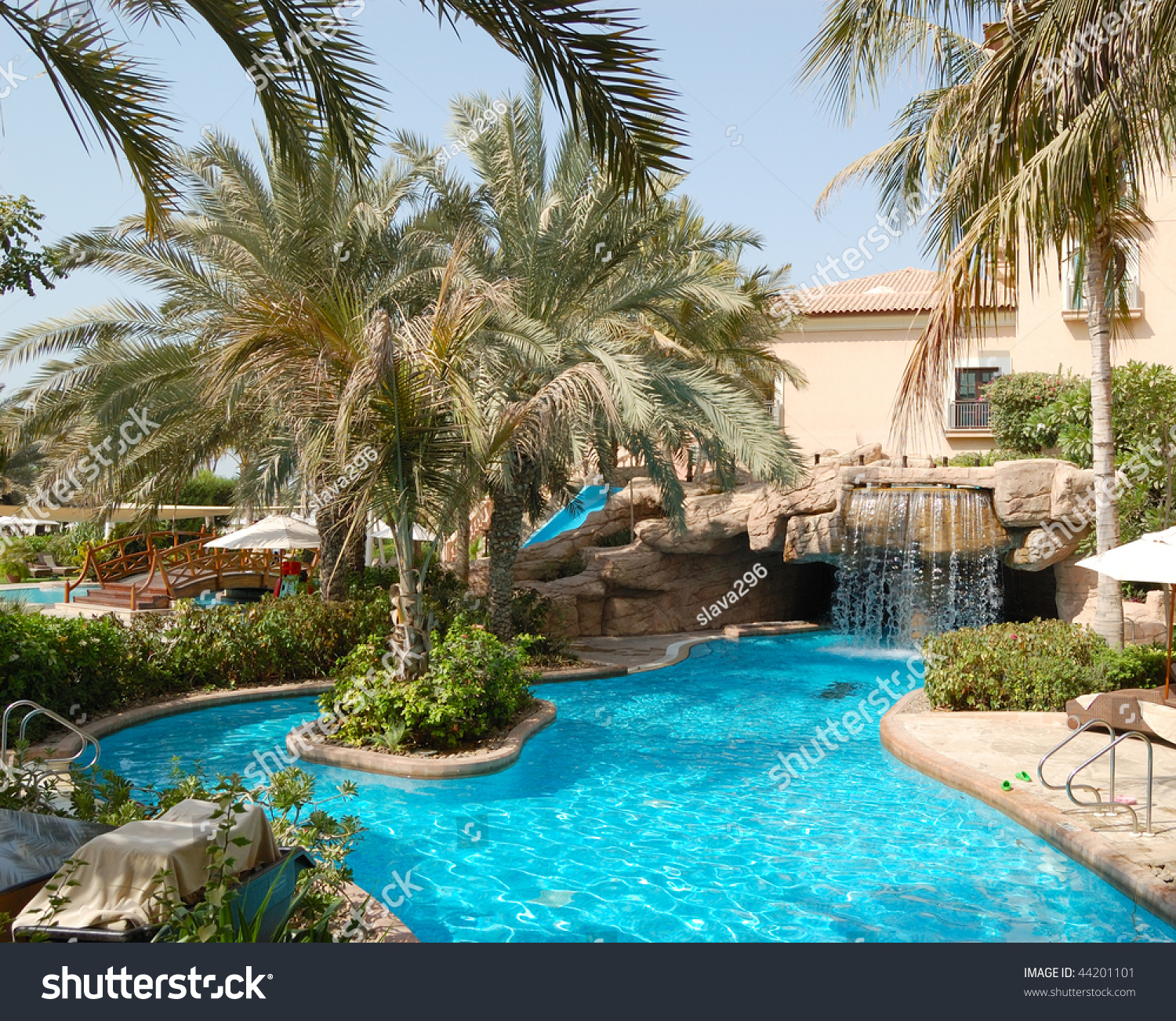 Swimming pool luxury hotel dubai united stock photo for Pool design dubai