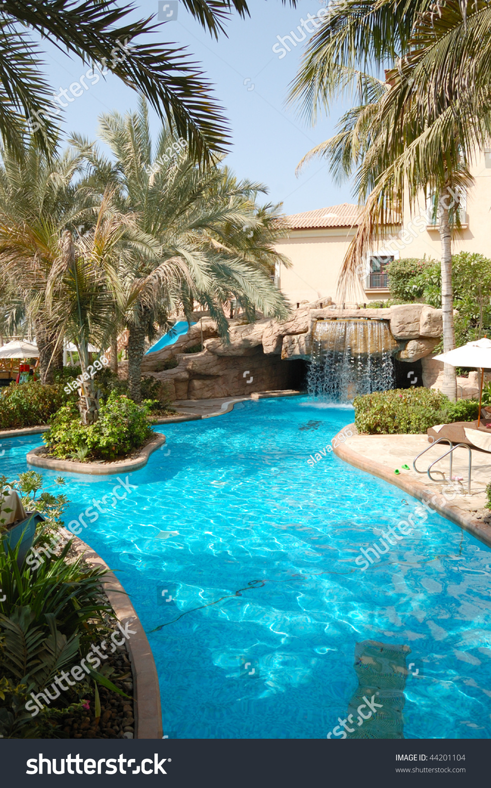 Swimming Pool Luxury Hotel Dubai United Stock Photo 44201104 Shutterstock