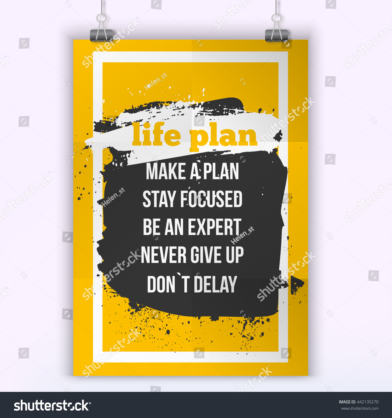 Life Plan Quote Inspirational Concept Image Stock Vector (Royalty ...