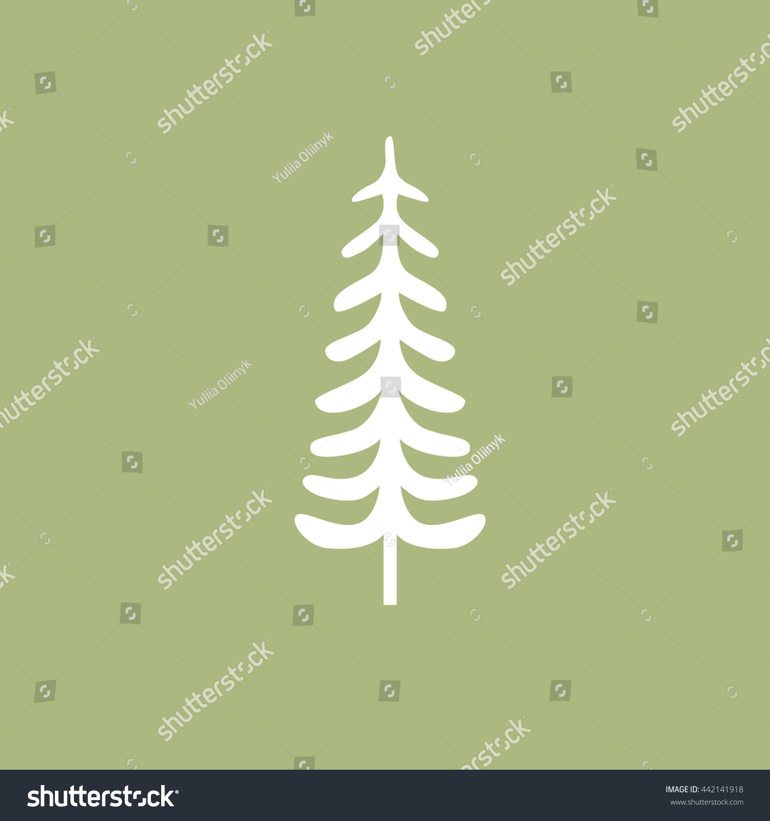 Firtree Symbol Vector Tree Symbol Vector Stock Vector 442141918