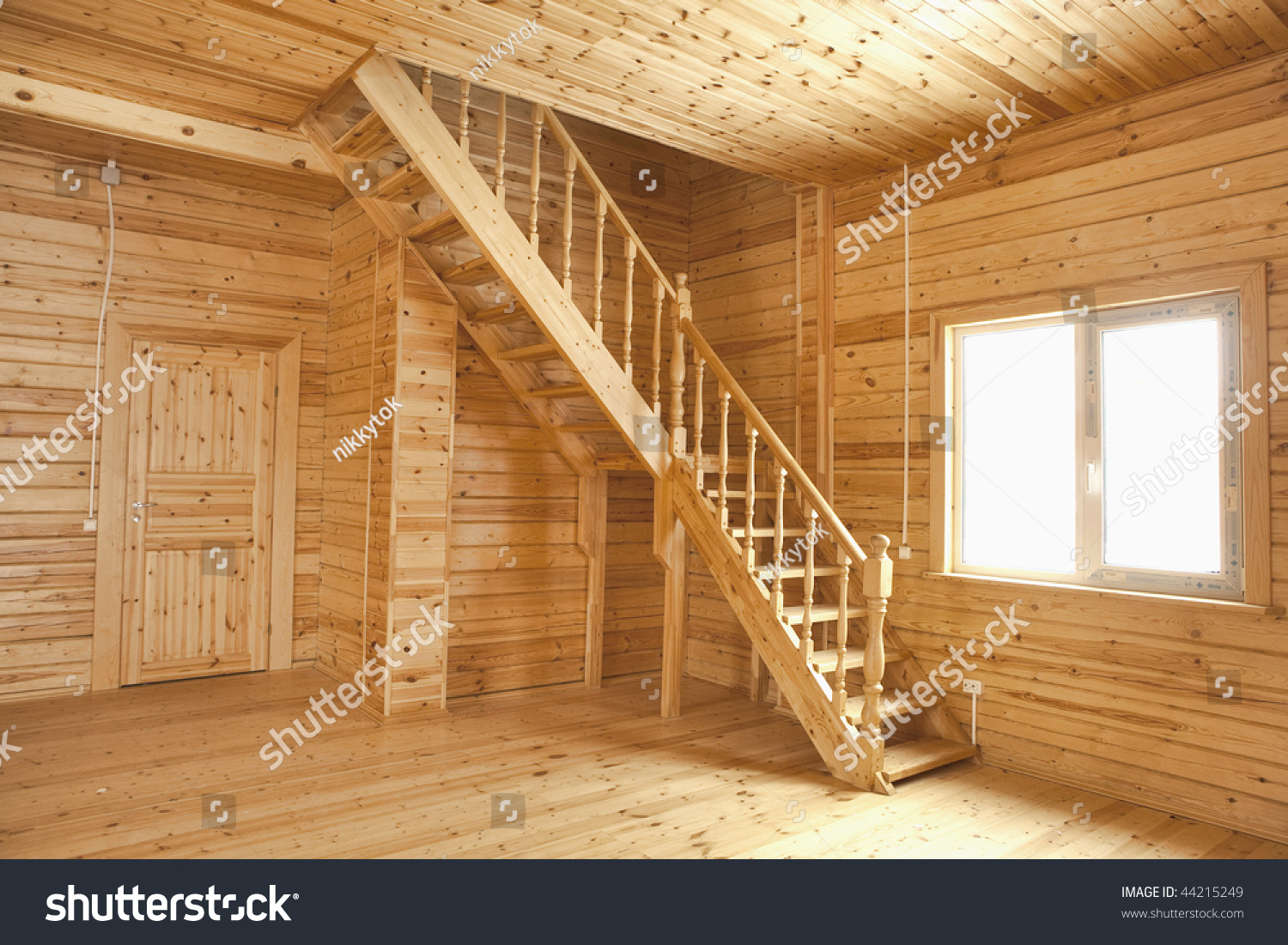 Wooden House Interior Stock Photo 44215249 Shutterstock
