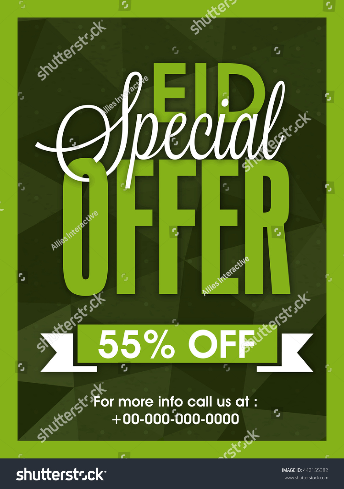 eid special offer poster banner flyer discount save to a lightbox