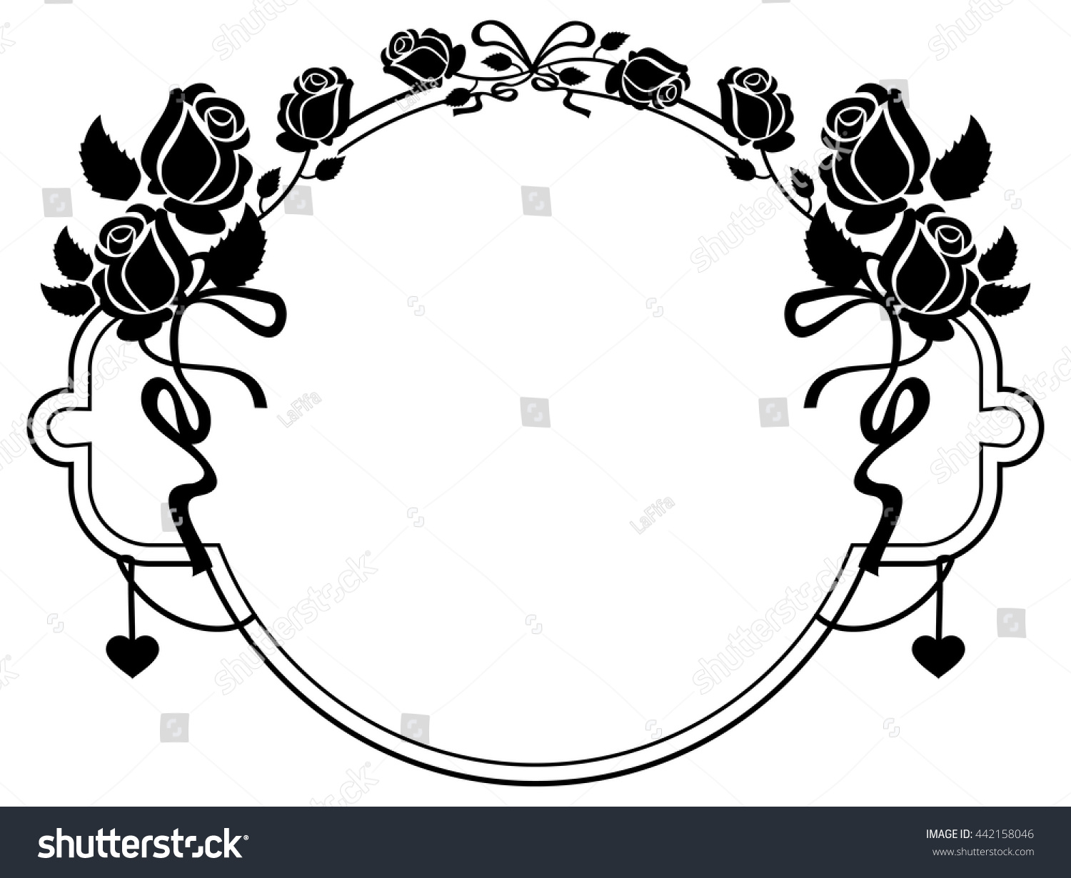 Line Art Rose Flower : Bouquet with roses and daisies traditional european pattern