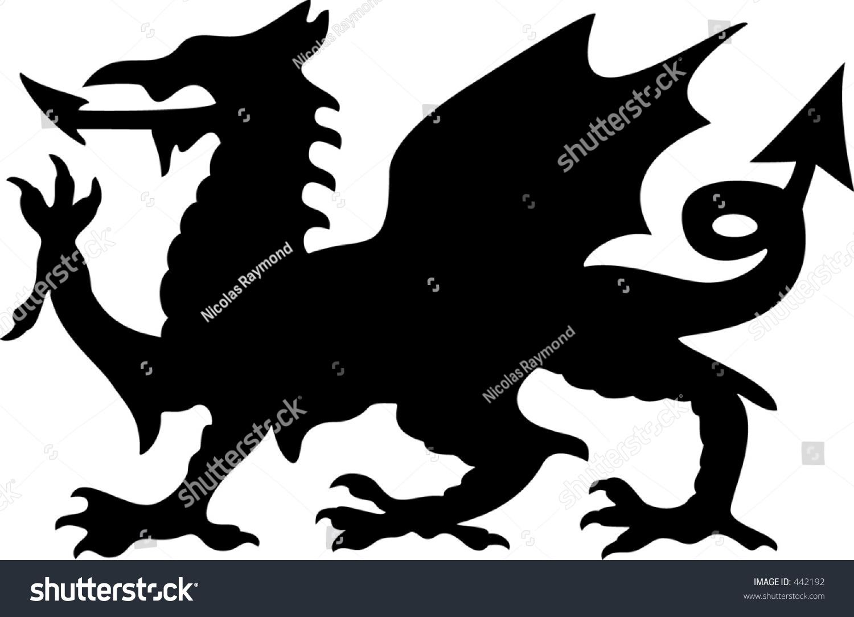Welsh dragon silhouette stock vector 442192 shutterstock welsh dragon silhouette buycottarizona Image collections
