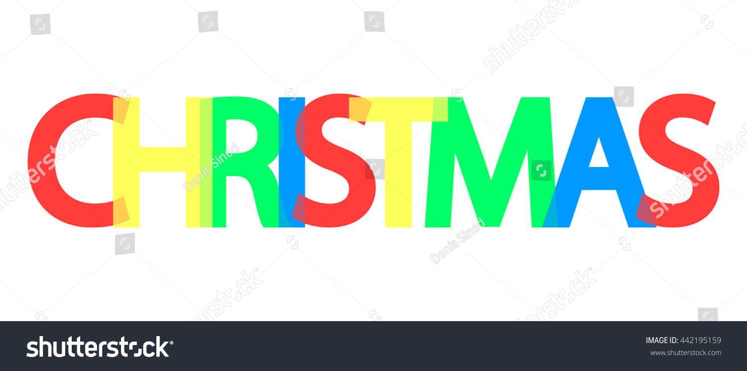 christmas word design banner template background stock vector