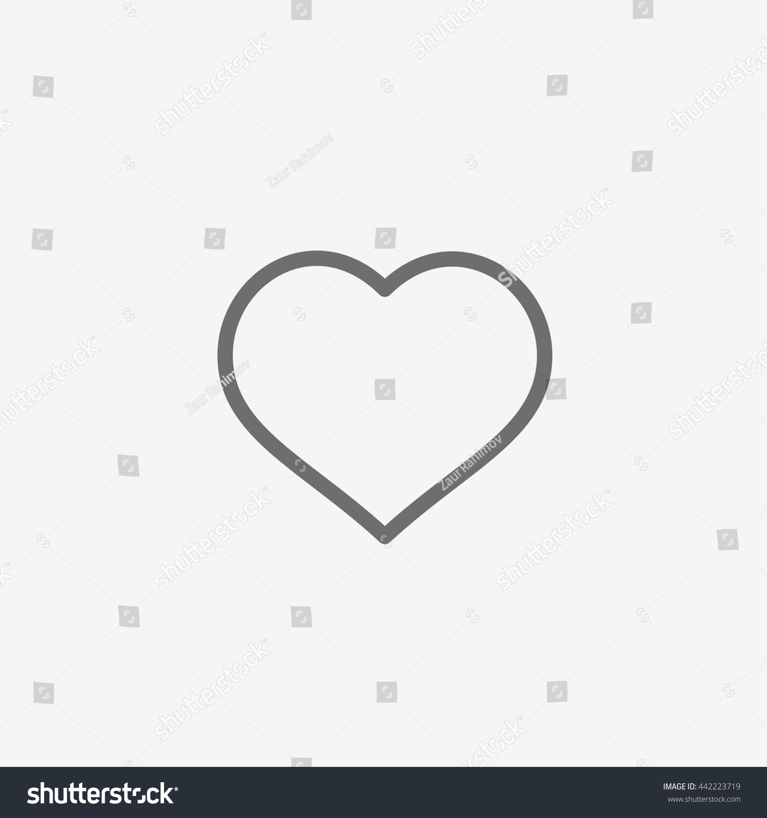 ... Heart vector, Love sign, UI element, User Interface symbol, 2016
