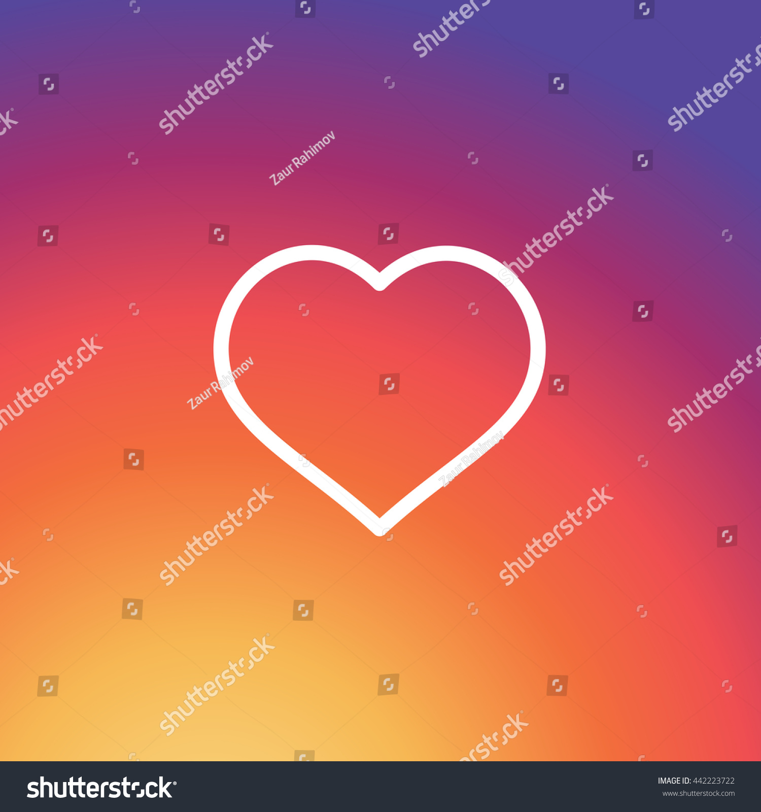 Instagram Like Icon Colorful Smooth Gradient Color Background Wallpaper Heart Vector Love Sign