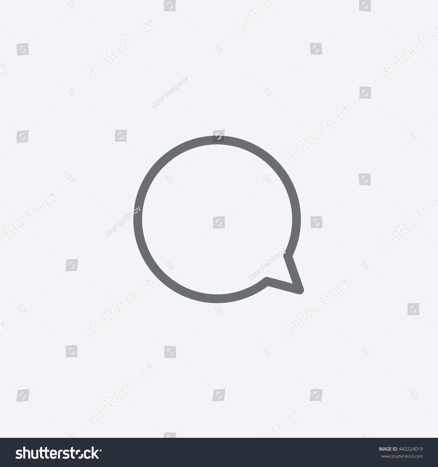 Instagram Comment Icon Vector Message Sign Stock Vector