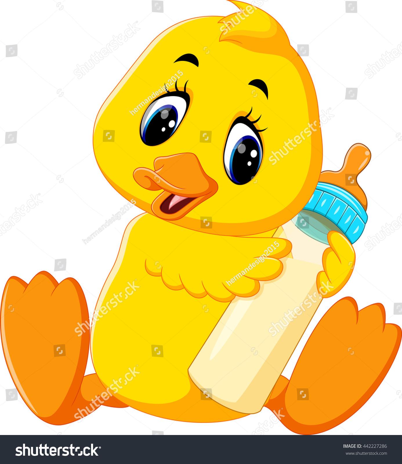 Cute cartoon rubber duck