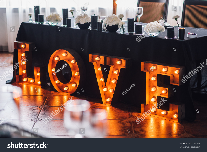 Wedding Decor Reception Banquet Wedding Table Stock Photo Edit Now