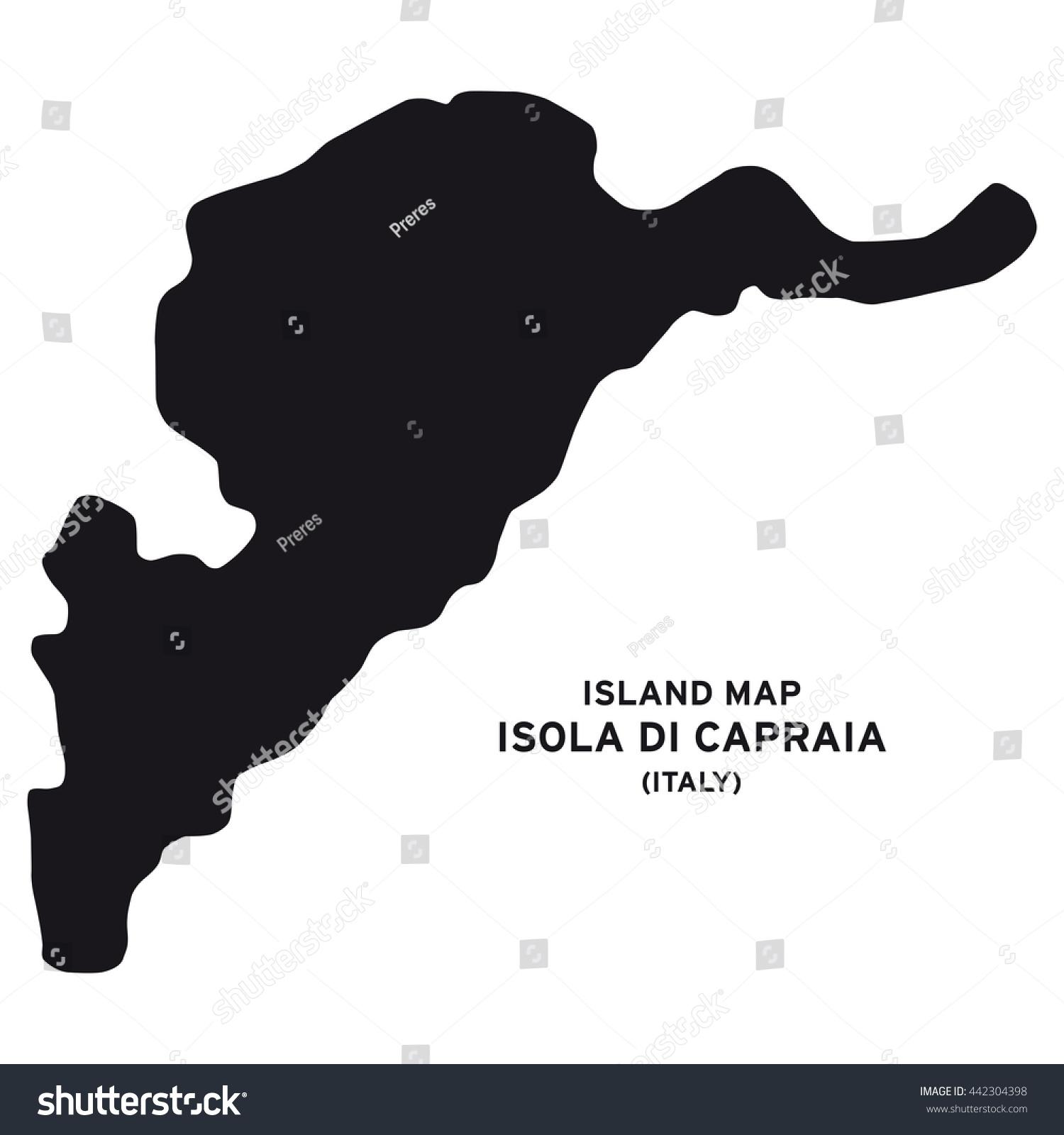 Island Map Isola Di Capraia Italy Stock Vector 442304398 Shutterstock