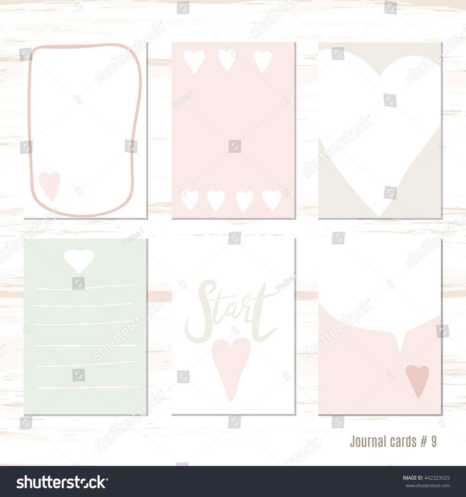 Vector Design Templates Journal Cards Scrapbooking Stock Photo ...