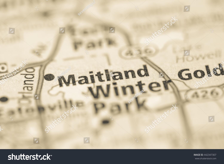 Maitland Florida Map.Maitland Florida Usa Stock Photo Edit Now 442347307 Shutterstock