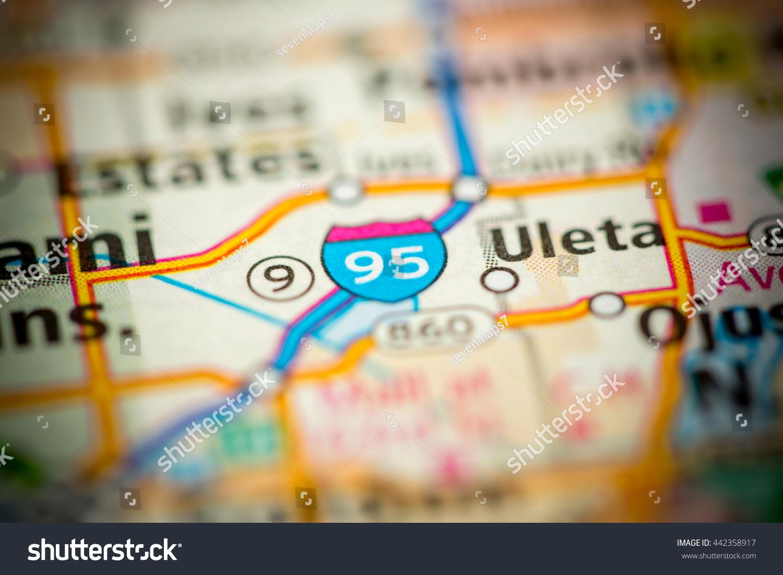 I 95 Map Florida.I 95 Florida Usa Stock Photo Edit Now 442358917 Shutterstock