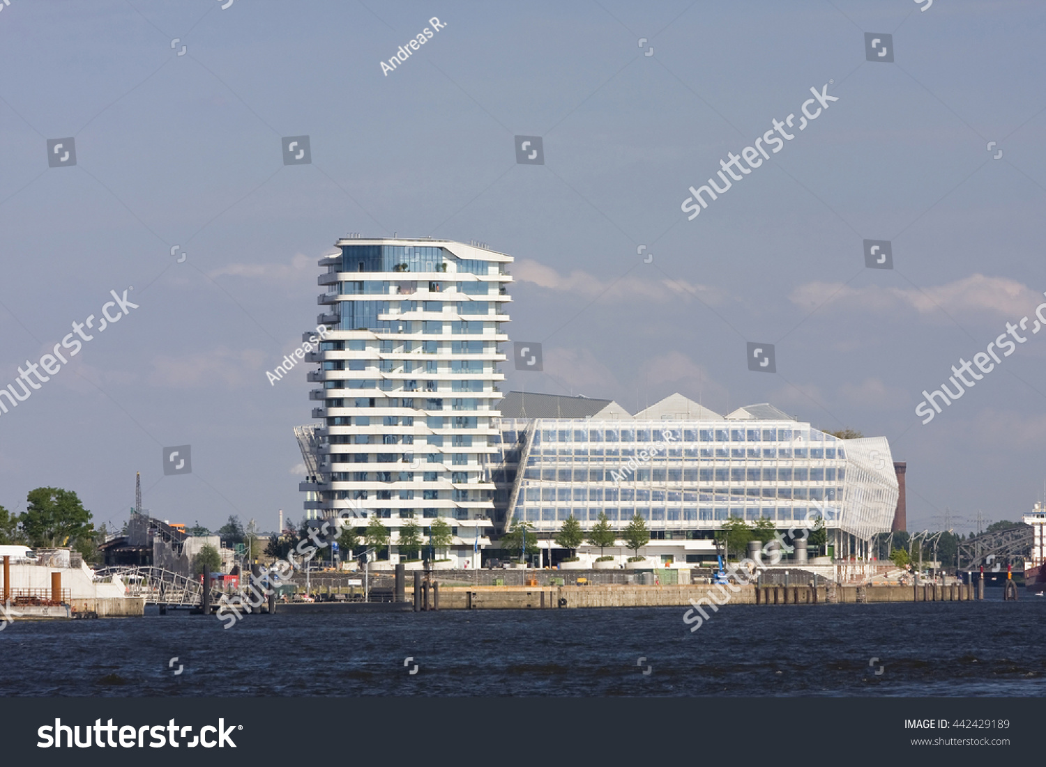 Marco Polo Tower Unilever House Hafencity Stock Photo 442429189 ...