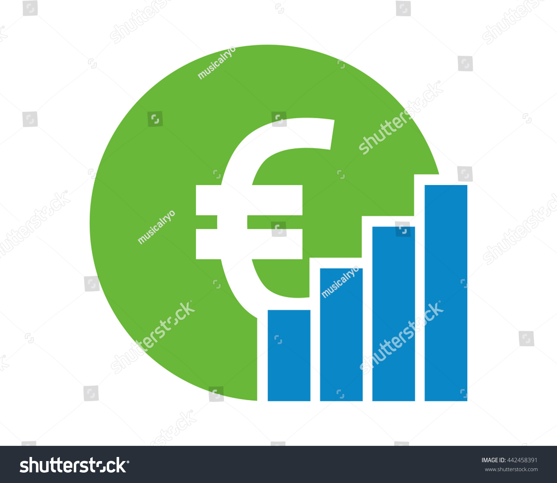 Euro chart money currency price image stock vector 442458391 euro chart money currency price image vector icon logo symbol money currency price image vector icon biocorpaavc