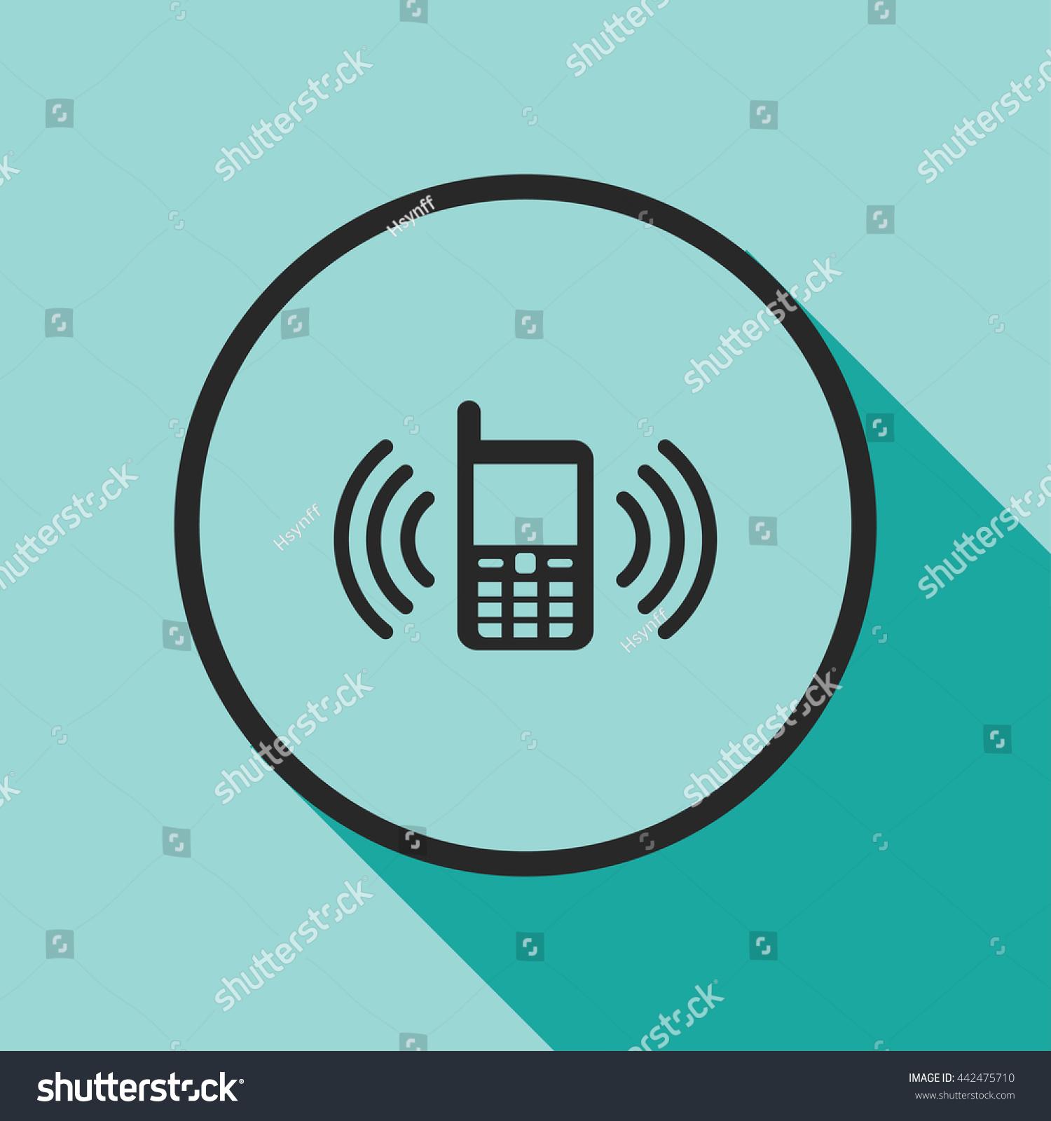 Phone Vibration Icon Stock Vector 442475710 - Shutterstock