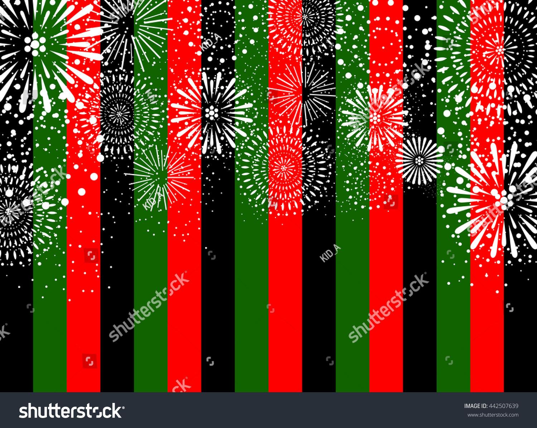 Fireworks Japanese Pattern Background Stock Vector 442507639 ...