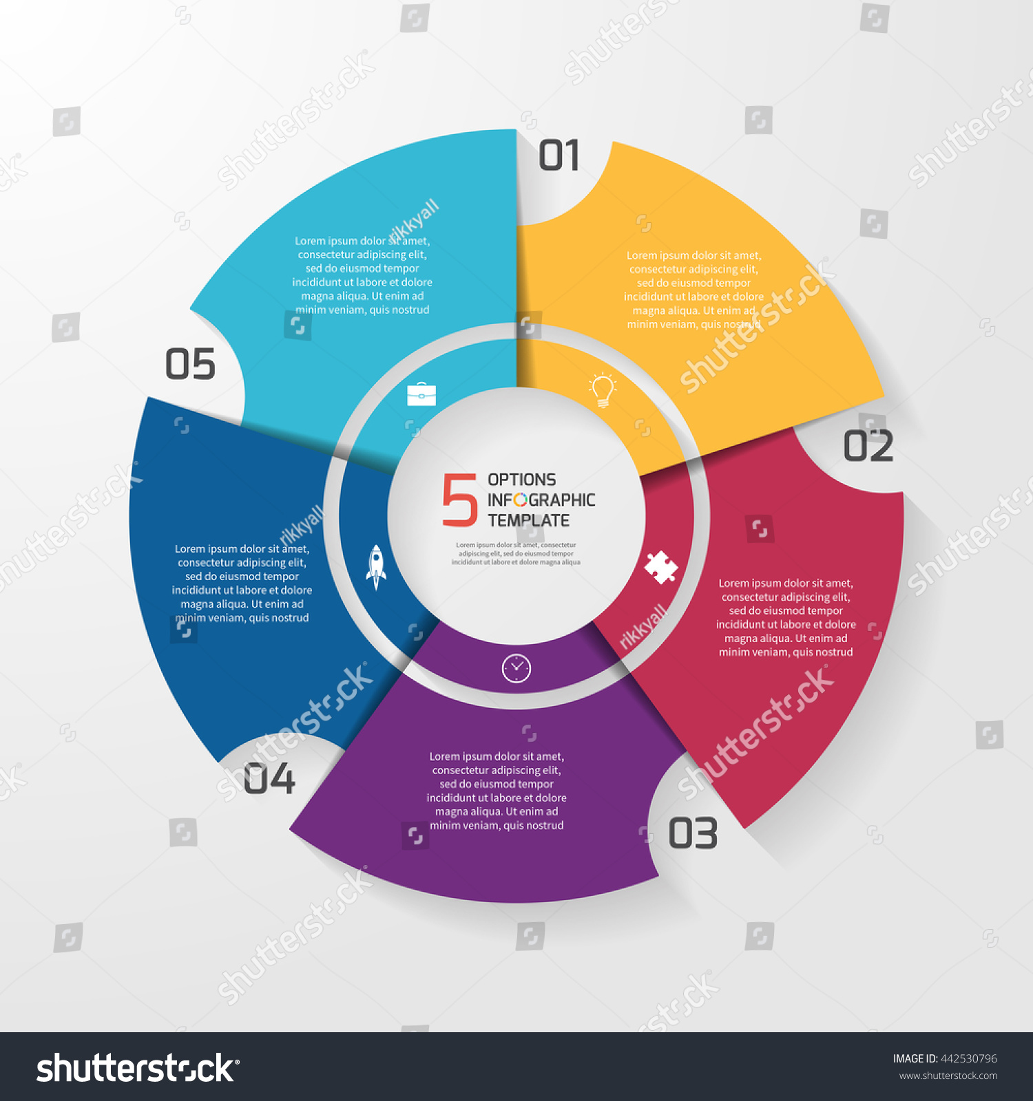 Vector circle infographic template graphs charts em vetor stock vector circle infographic template for graphs charts diagrams pie chart concept with 5 ccuart Gallery