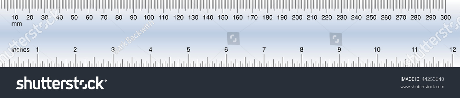 Accurate Simple Vector Ruler In Inches And Millimeters