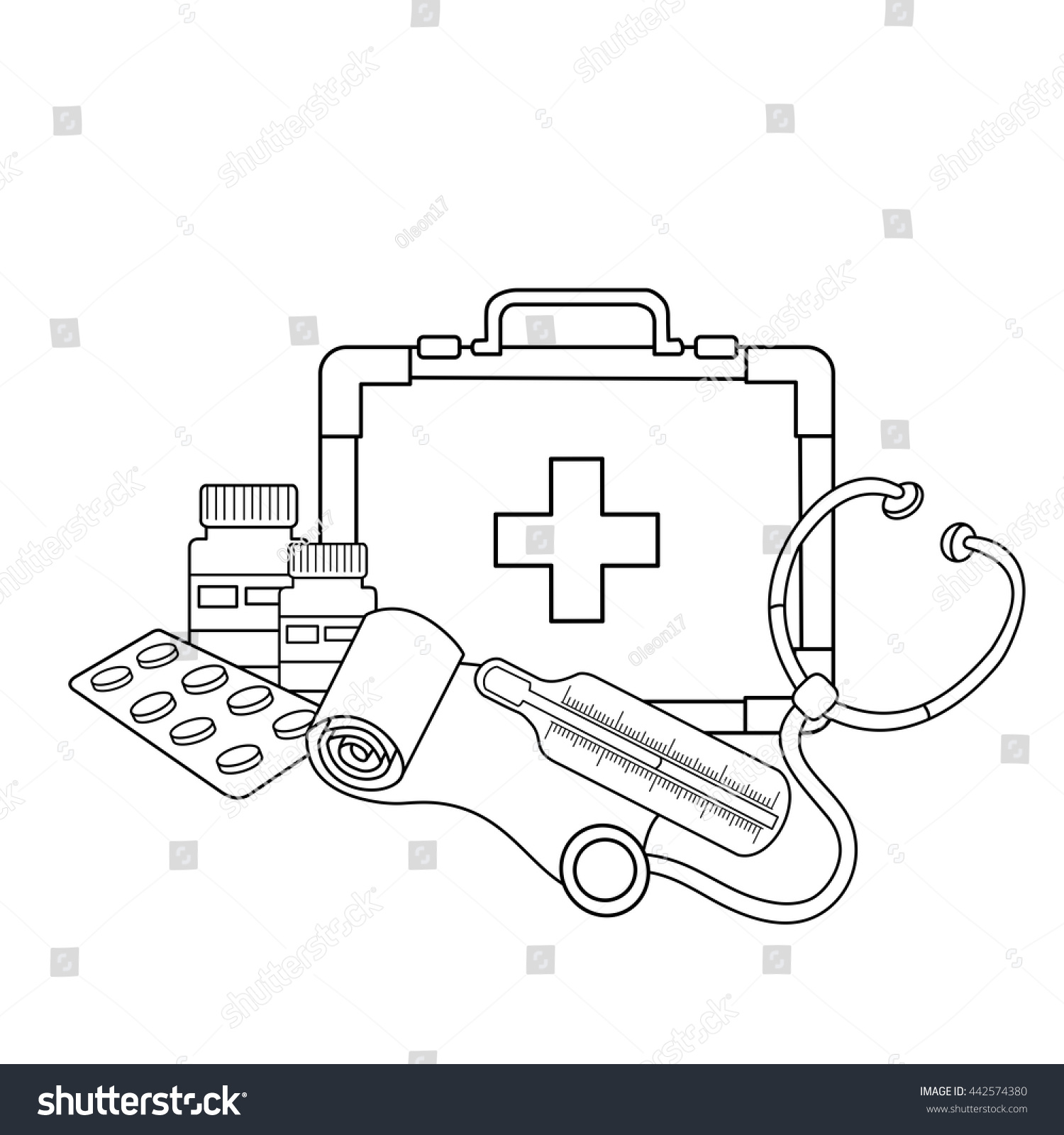 Coloring instruments - Coloring Page Outline Of Medical Instruments Profession Medicine Medical Logo Coloring Book