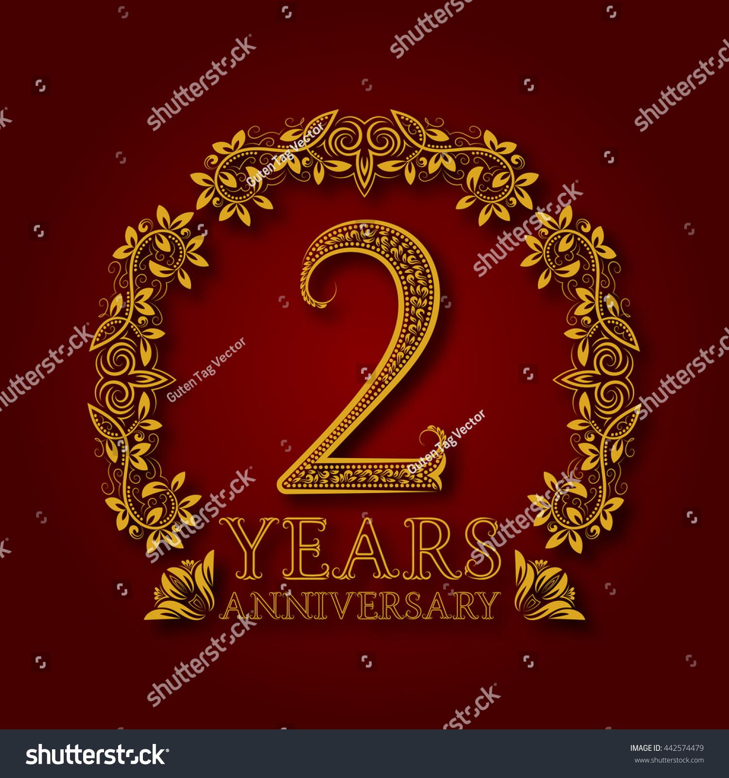 Golden Emblem Second Years Anniversary Celebration Stock