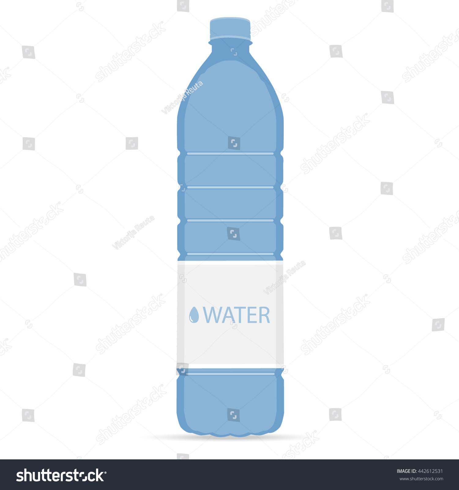 Water Bottle Vector: Vector Illustration Bottle Mineral Water Bottle Stock