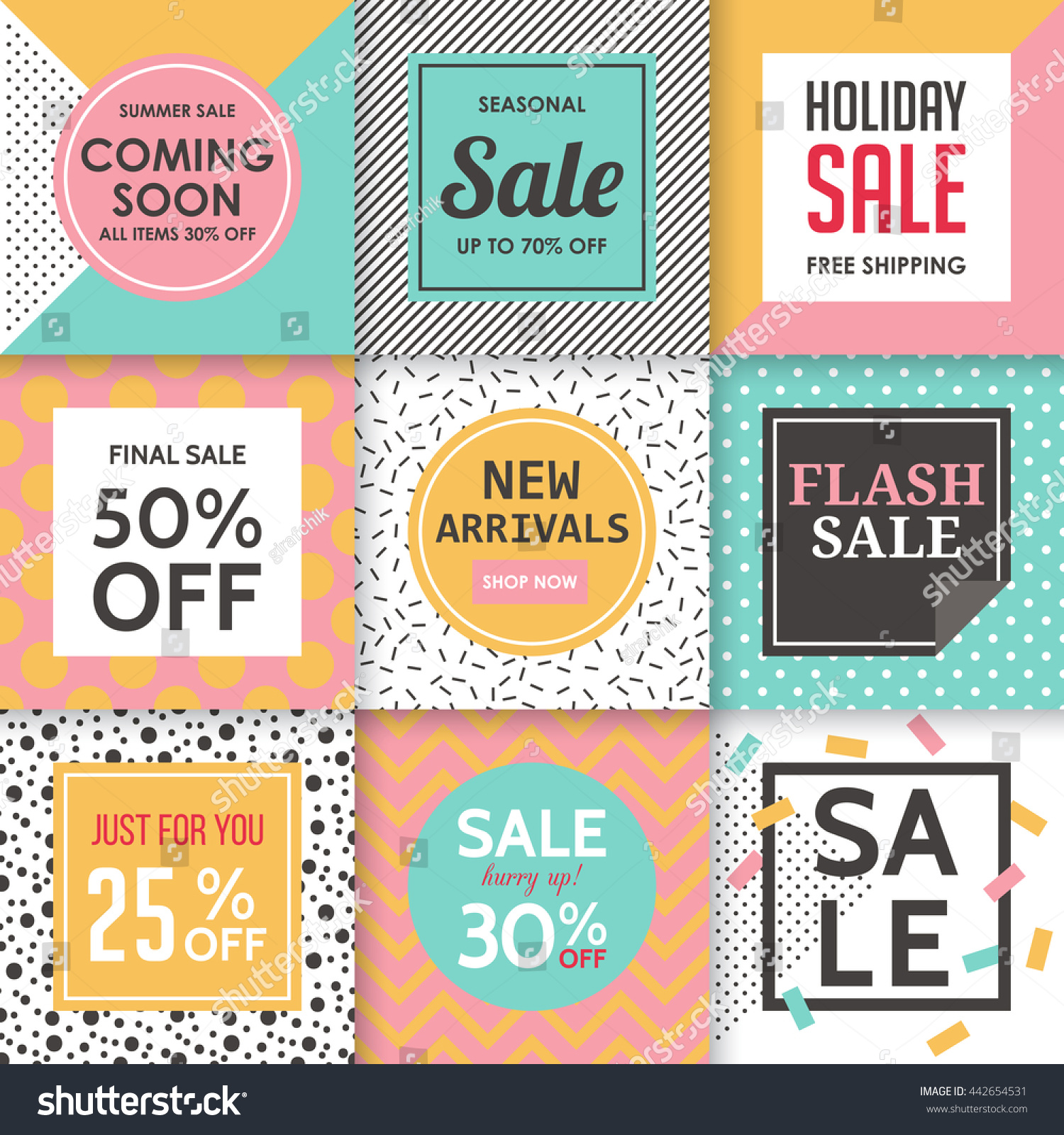 modern sale banners template social media stock vector royalty free