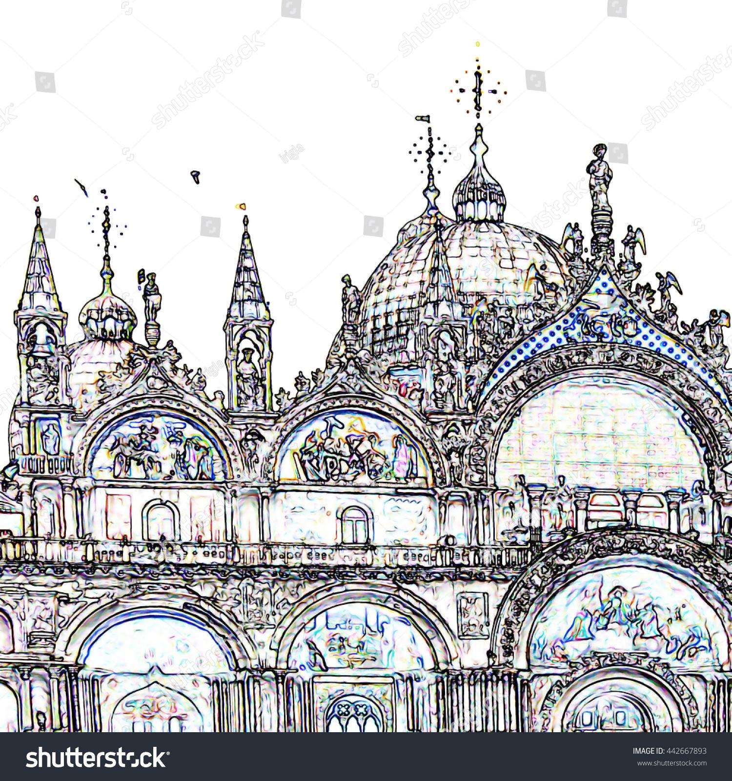 Veneto Basilica San Marco Stock Illustration 442667893 - Shutterstock
