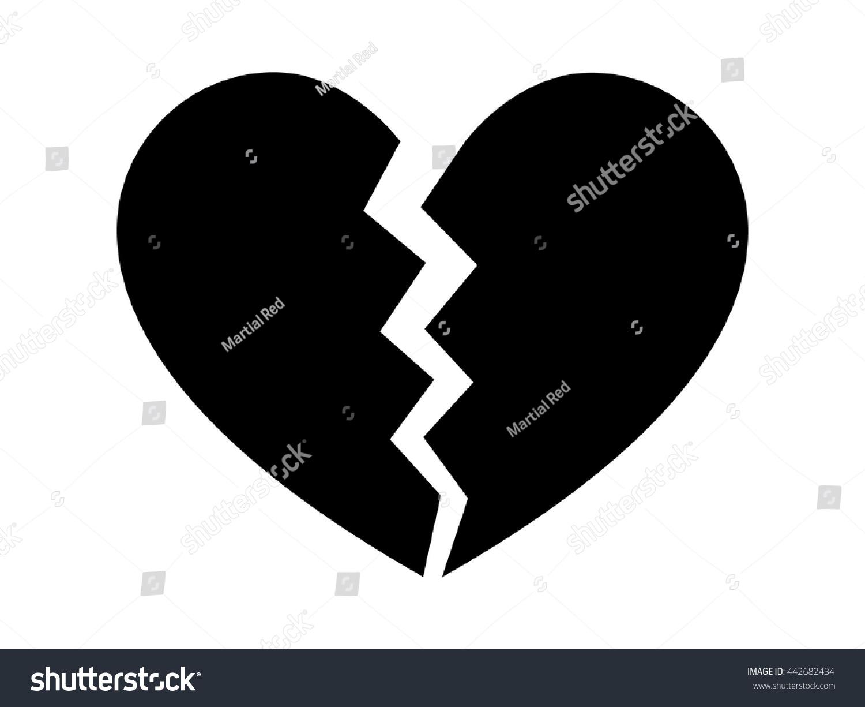 Heartbreak broken heart divorce flat icon stock vector 442682434 heartbreak broken heart or divorce flat icon for apps and websites biocorpaavc Images
