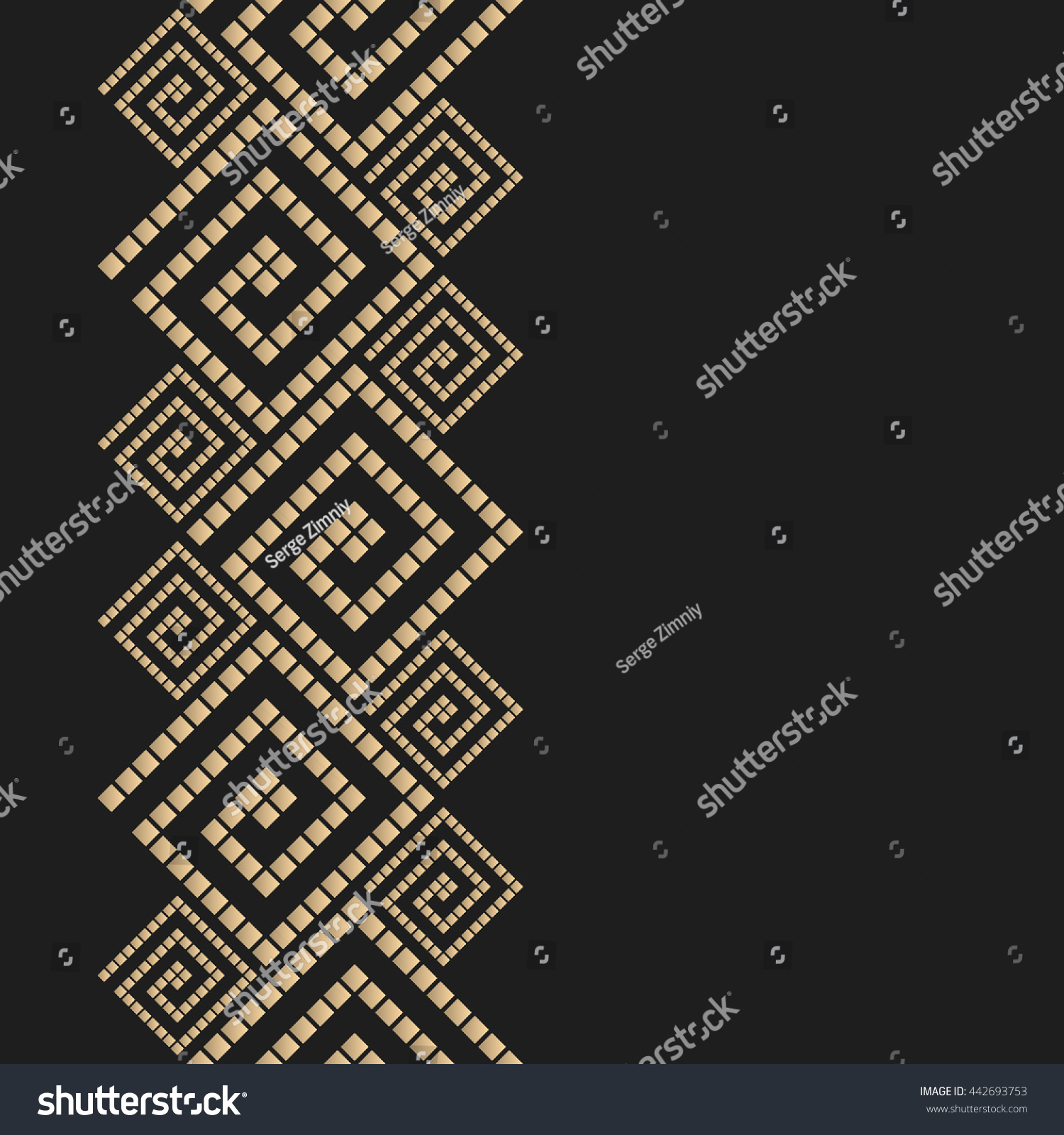Vector geometric background greek style Meander vector border for design