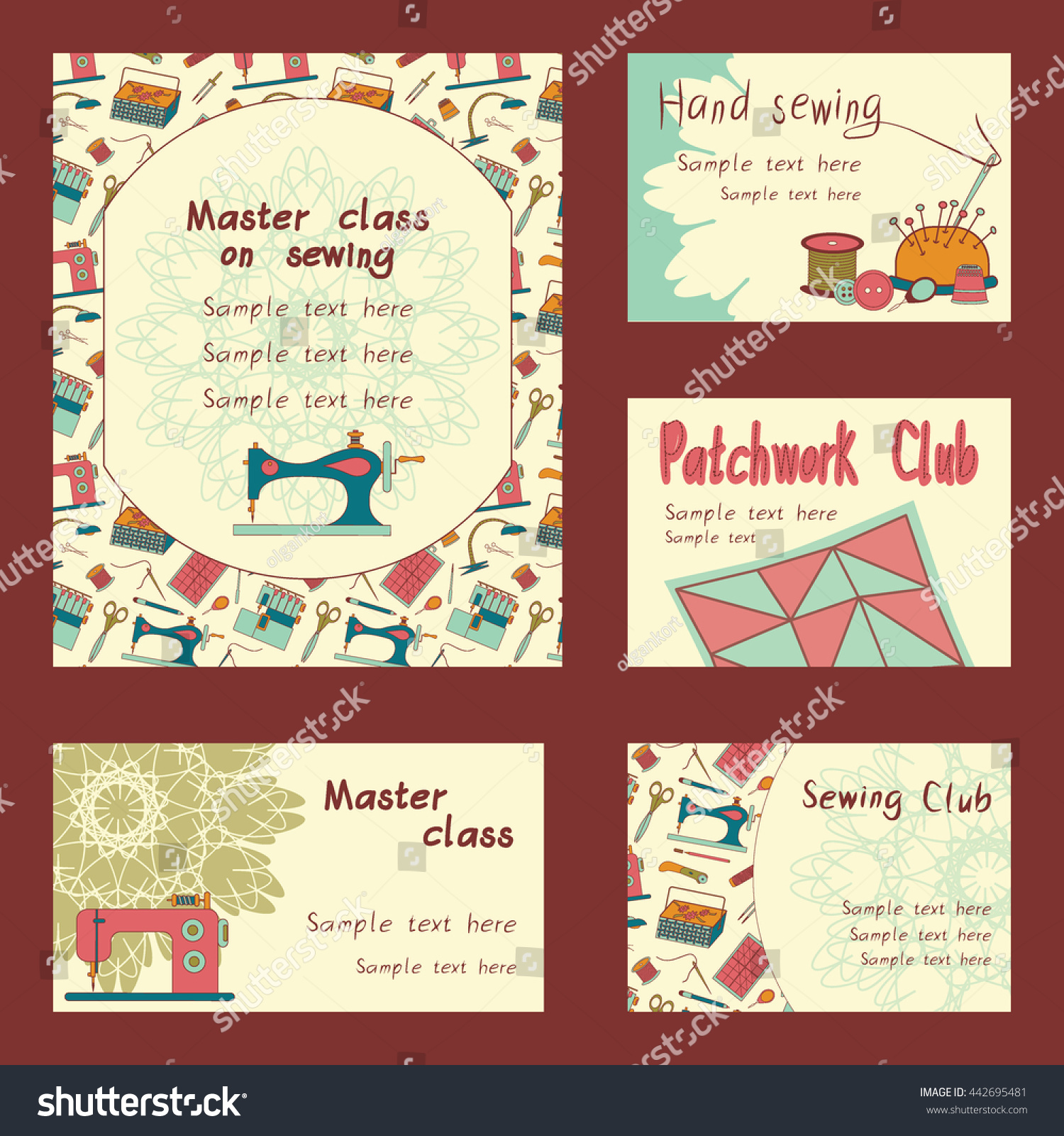 Color vector set flat objects sewing stock vector 442695481 color vector set of flat objects for sewing handicraft tailor shop sewing tools magicingreecefo Image collections