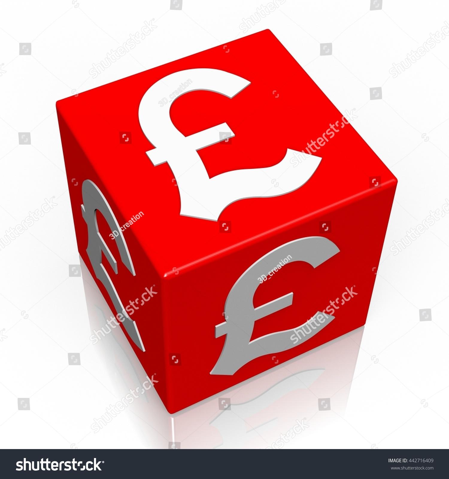 3 D Illustration 3 D Rendering Pound Currency Stock Illustration