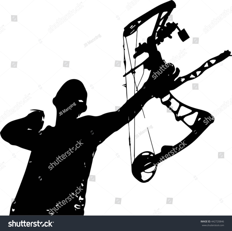 ... Silhouette compound bow stock vectors & vector clip art shutterstock