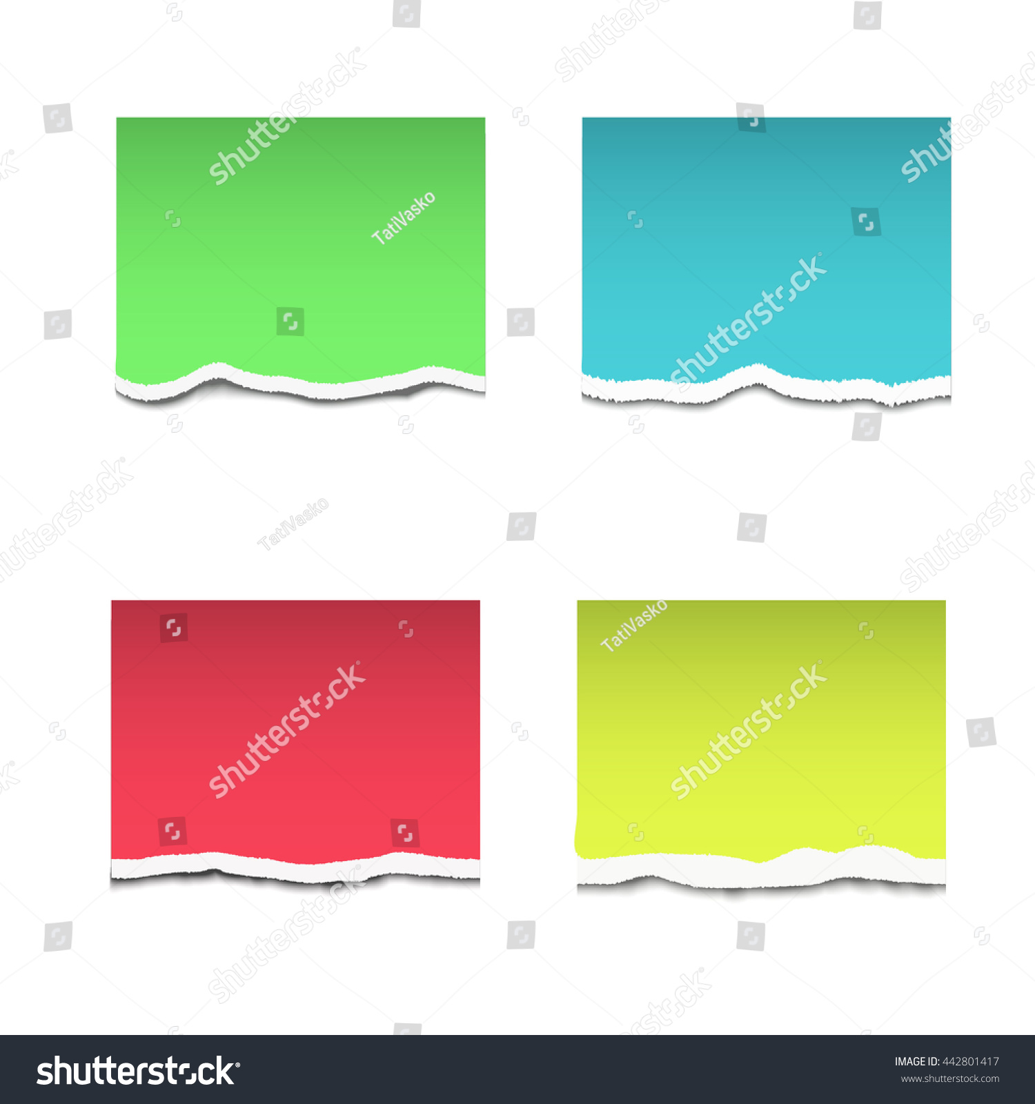 color torn paper vector stock vector 442801417 shutterstock rh shutterstock com torn paper vector brush torn paper vector illustrator