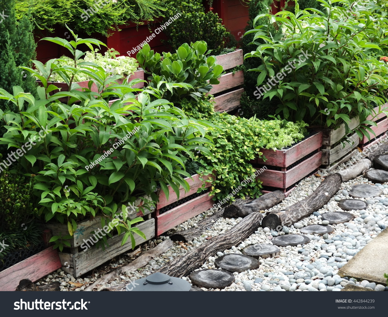 Ideas Outdoor Garden Decoration Stock Photo (Royalty Free) 442844239 ...