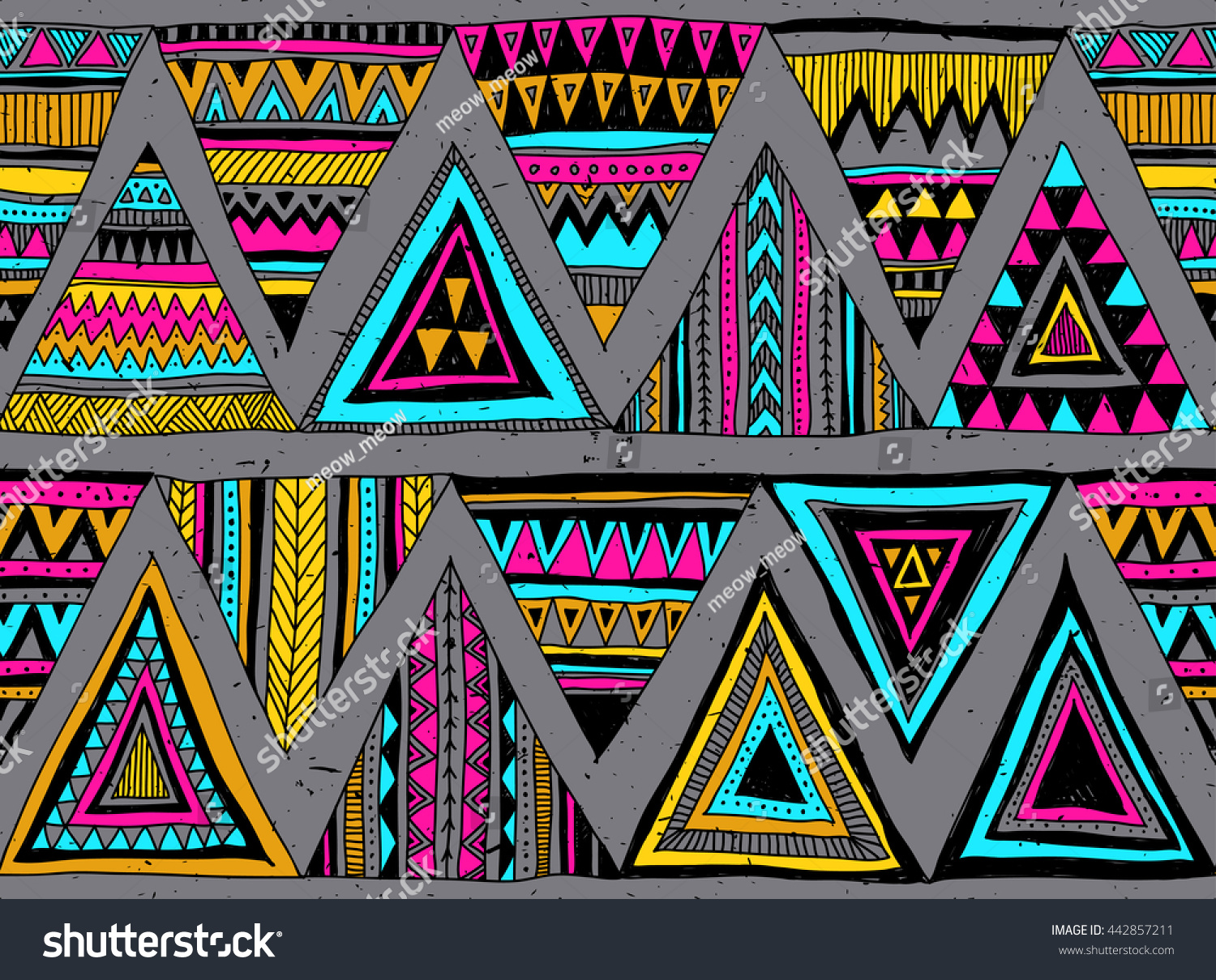 100 Neon Color Tribal Seamless Pattern Marble