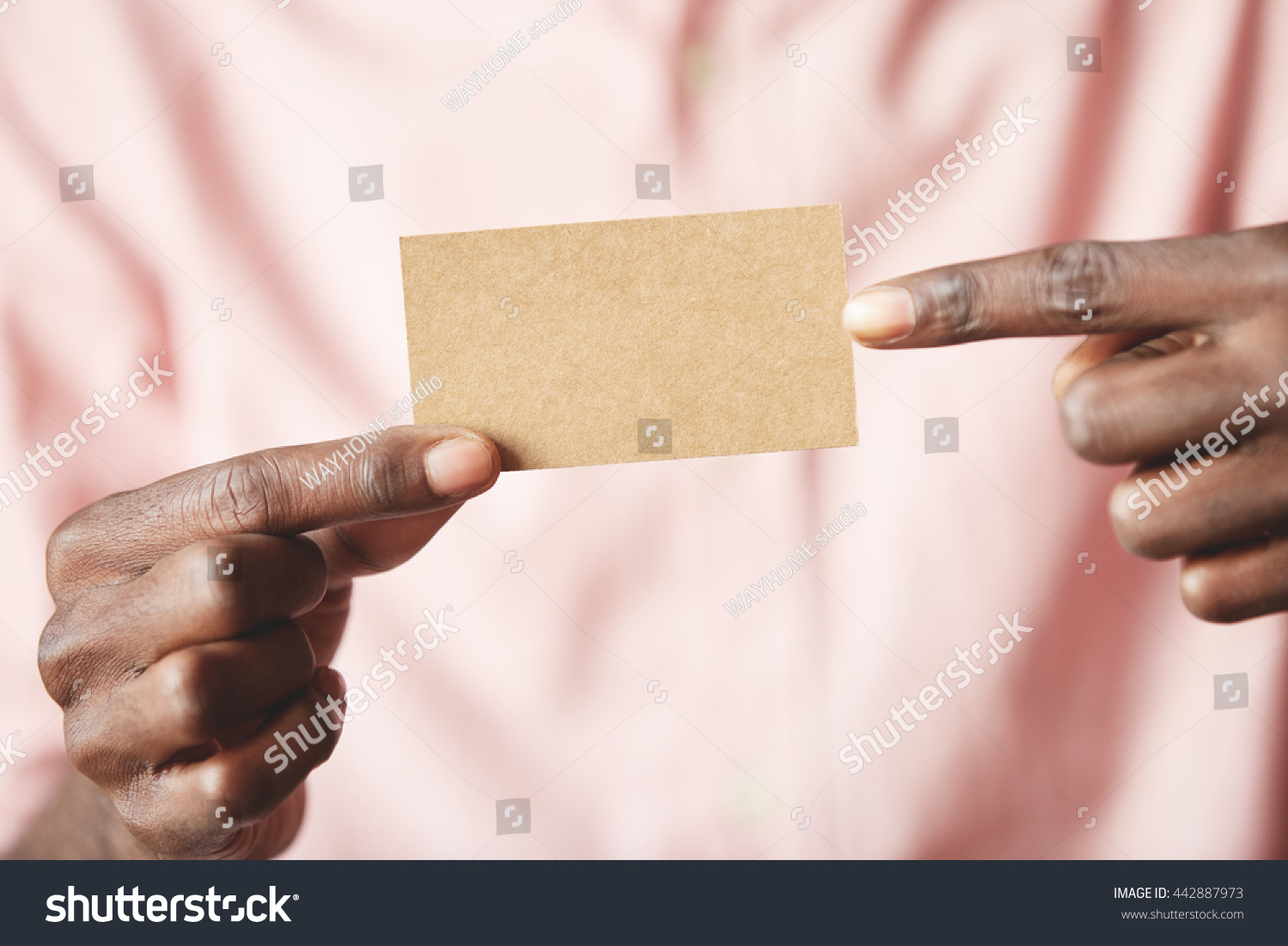 Close Shot Blank Modern Parchment Business Stock Photo 442887973 ...